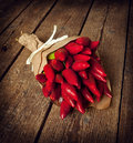Bunch of red hot pepper Royalty Free Stock Photo
