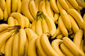 Bunch Of Ripe Bananas At A Street Market Stock Photography
