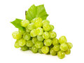 Bunch of ripe green grapes on white Stock Photo