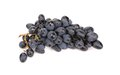 Bunch of ripe and juicy black grapes isolated on a white background Stock Photo
