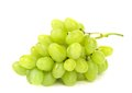 Bunch of ripe and juicy green grapes close up on a white background Royalty Free Stock Photos