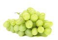 Bunch of ripe and juicy green grapes isolated on a white background Stock Image