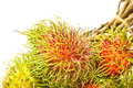 A Bunch Of Ripe Rambutan Stock Photography