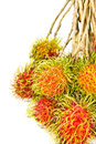 A Bunch Of Ripe Rambutan Stock Photo