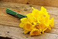 Bunch of spring daffodils a a popular symbol the season whose flowers bloom during springtime Stock Photo