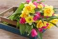Bunch Of Spring Flowers In Woo...