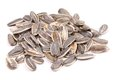 Bunch of sunflower seeds on a white background Royalty Free Stock Photos