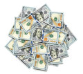 Bunch of us dollar bills a Royalty Free Stock Photography