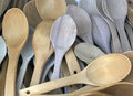 A bunch of wooden spoons Royalty Free Stock Photo