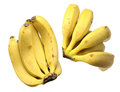 Bunches of bananas on white background Royalty Free Stock Images