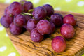 Bunches of purple ripe grape Stock Image
