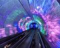Bund Tourist Tunnel Shanghai, China Royalty Free Stock Photo