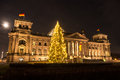 Bundestag at christmas in berlin Stock Photography