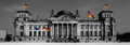 Bundestag colorkey picture of the reichstagsgebäude in berlin Royalty Free Stock Image