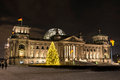 Bundestag in december berlin by night Stock Photo