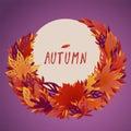 A bundle of bright filigree autumn leaves
