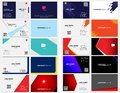Bundle business card back and front side Royalty Free Stock Photo