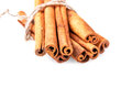 Bundle of cinnamon sticks isolated on white background Royalty Free Stock Photo