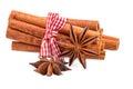 Bundle of cinnamon sticks Royalty Free Stock Photo
