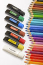 Bundle of Colored Pencils Royalty Free Stock Photo