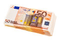 Bundle of euro banknotes isolated Royalty Free Stock Photo