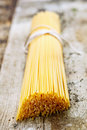 Bundle of Italian spaghetti Stock Images