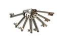 Bundle old keys Royalty Free Stock Photo