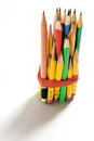 Bundle of Short Pencils Stock Photos
