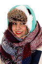 Bundled up young woman. Royalty Free Stock Photo