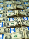 Bundles of U.S. One Dollar Bills Royalty Free Stock Photo