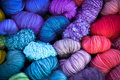 Bundles of yarn this colorful picture shows a all piled up and looking pretty Royalty Free Stock Photo