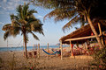 Bungalow beach bar in Puerto Lopez, Manabi Royalty Free Stock Photo