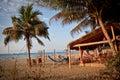 Bungalow beach bar in Puerto Lopez, Manabi Royalty Free Stock Photo