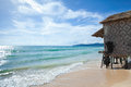 Bungalow on clean beach in Thailand Royalty Free Stock Photos