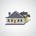 Bungalow house easy to edit vector illustration of real estate Royalty Free Stock Photography