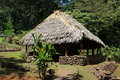 Bungalow new in rain forest hawaii Stock Images