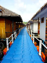 Bungalow on sea home stay on the ocean Stock Images