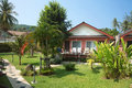 Bungalow in tropical garden in thailand phuket Stock Photography