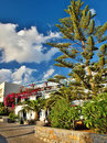 Bungalows complex stalis crete greece also candia κρήτη greek english is the largest greek and overall the fifth largest Royalty Free Stock Image