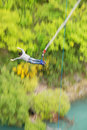 Bungy jump off Kawarau bridge Royalty Free Stock Image