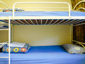 Bunk beds at the hostel Royalty Free Stock Photo