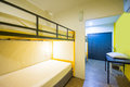 Bunk Beds in sleeping room Royalty Free Stock Photo