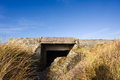 Bunker in the dunes Royalty Free Stock Photography