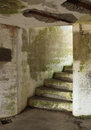 Bunker stairs winding stairway out of the at battery russell fort stevens park oregon the fort was closed after world war two Royalty Free Stock Image