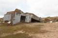 Bunker under the sand in normandy Royalty Free Stock Photography