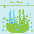 Bunnies in the bath Royalty Free Stock Photos