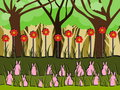 Bunnies on grass