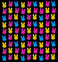 Bunnies wallpaper Stock Photo