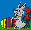 Bunny διάνυσμα Πάσχας Στοκ εικόνα με δικαίωμα ελεύθερης χρήσης