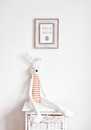 Bunny on the bedside table Royalty Free Stock Photo